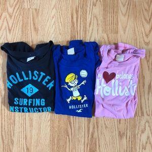3 Hollister T-shirt's together